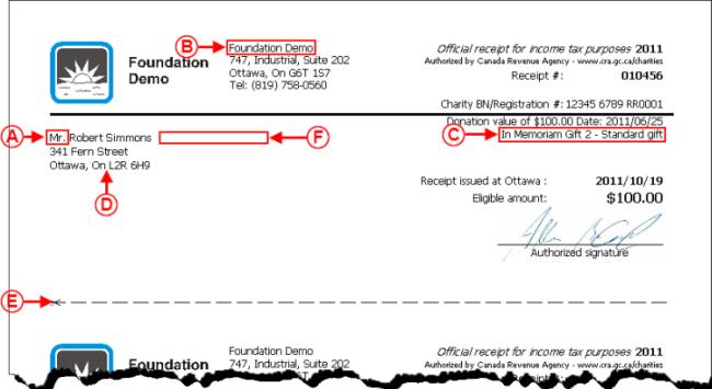 ProDonConfiguration of a Standard Type Receipt Version 4 Logilys – Standard Receipt